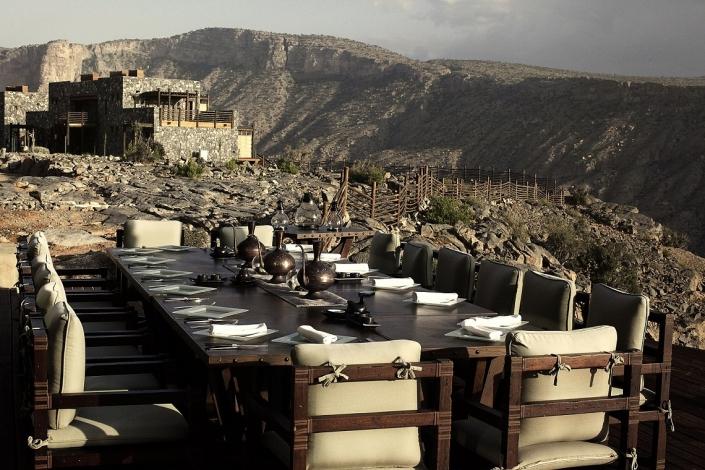 Alila Jabal Akhdar Restaurant Outdoor Dining