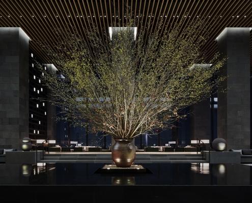 Aman Tokyo, Japan - Garden Lounge