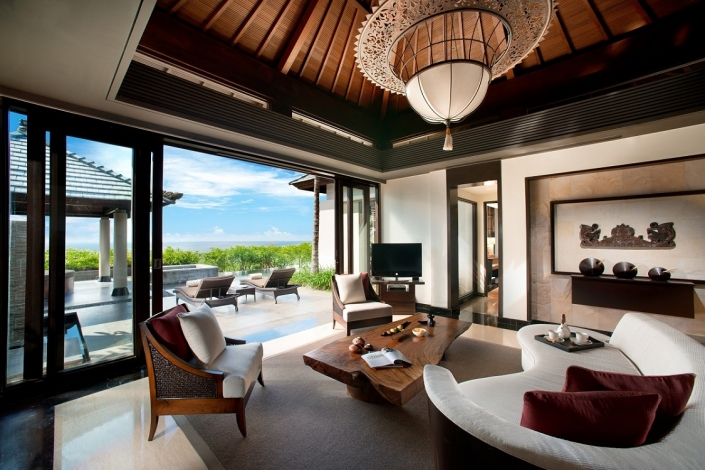 Banyan Tree Ungasan Pool Villa Sea View Living Room