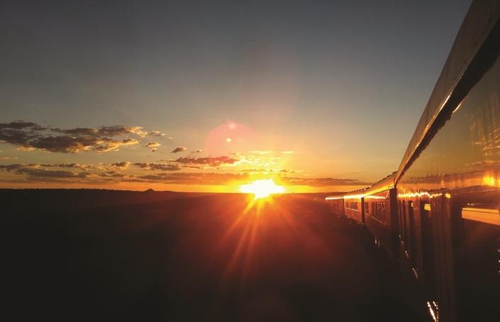Rovos Rail Train Scape Sunset