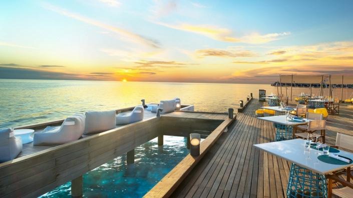 W Maldives Fish Deck Restaurante
