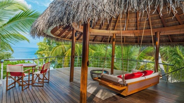 W Maldives Wonderful Beach Oasis obere Terrasse